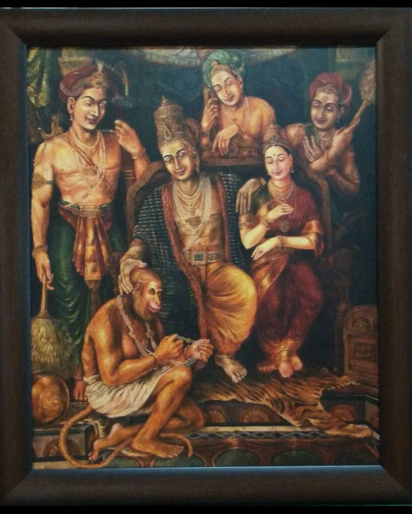 Rare Painting of Sree Rama Pattabishekam from Ayodhya