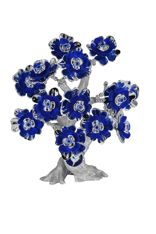 Bird In Blue Feng Shui Evil Eye Blue Flower Tree Showpiece