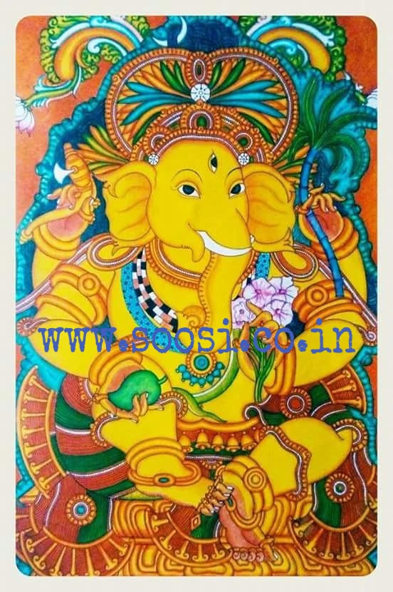TANUSH, LORD GANESHA HAND PAINTED ART BY ALEX MELOOR-G-ART-AM001