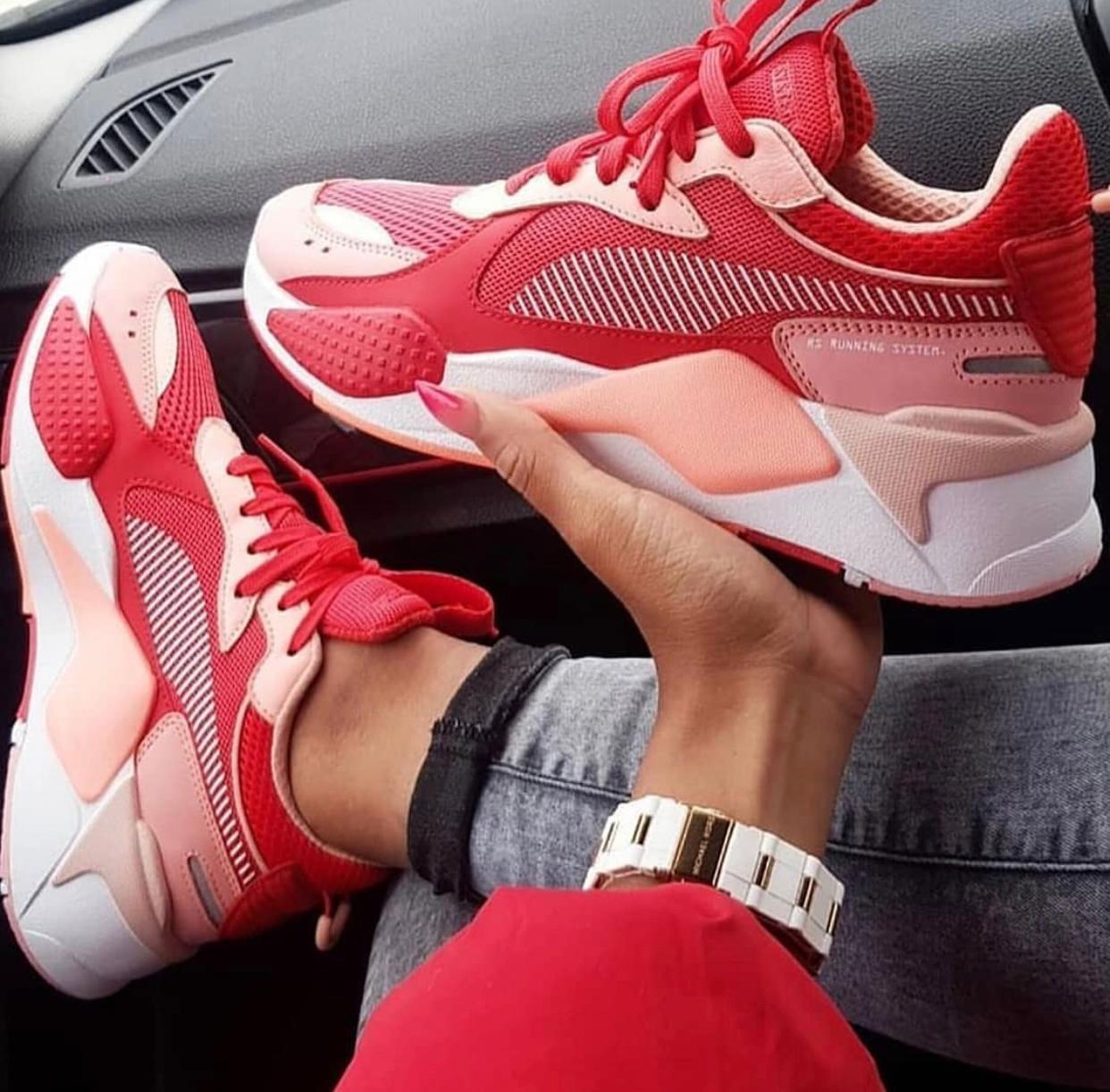 RED FASHION SNEAKERS FOR WOMEN