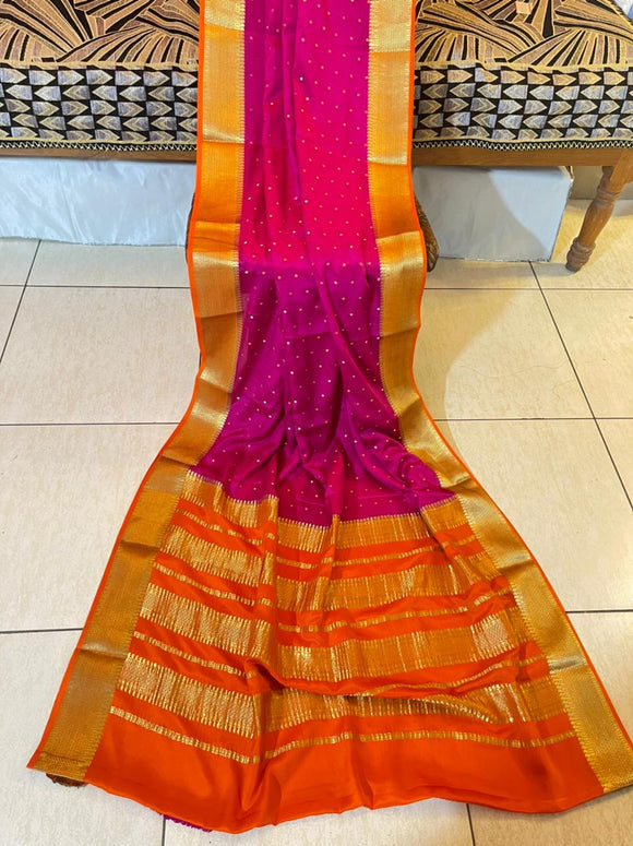 Authentic Pure Mysore Silk Saree For Women-MOEMSS001MO
