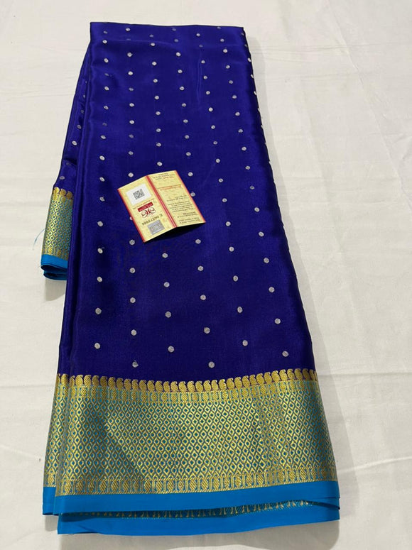 Authentic Pure Mysore Silk Saree For Women-MOEMSS001B