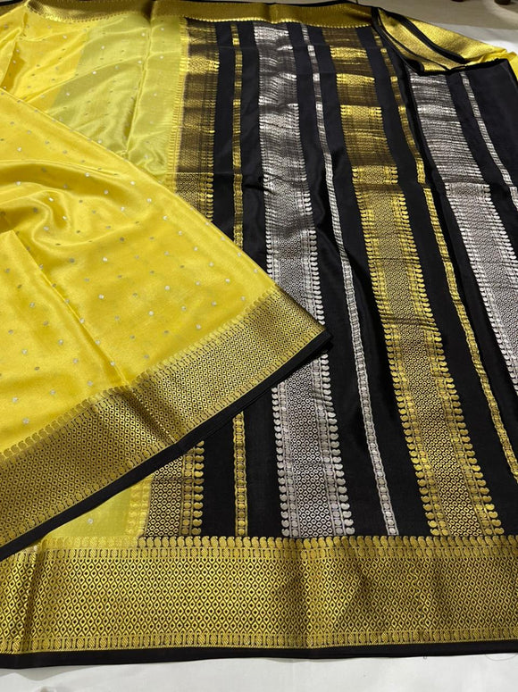 Authentic Pure Mysore Silk Saree For Women-MOEMSS001LB