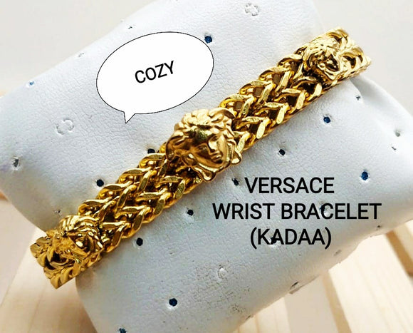 Gold Tone Chain Bracelet for Men