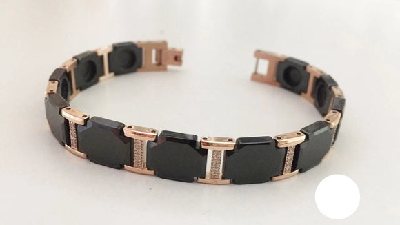 MEN'S BRACELET BLACK CERAMIC