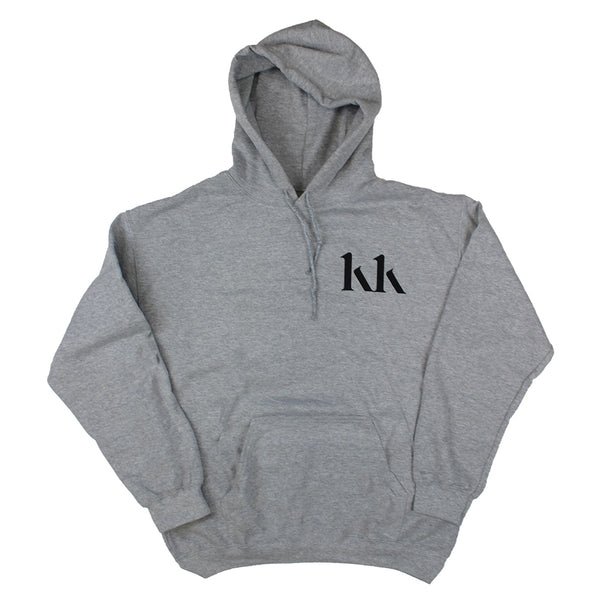 KK LOGO PHOTO BACK GREY HOOD