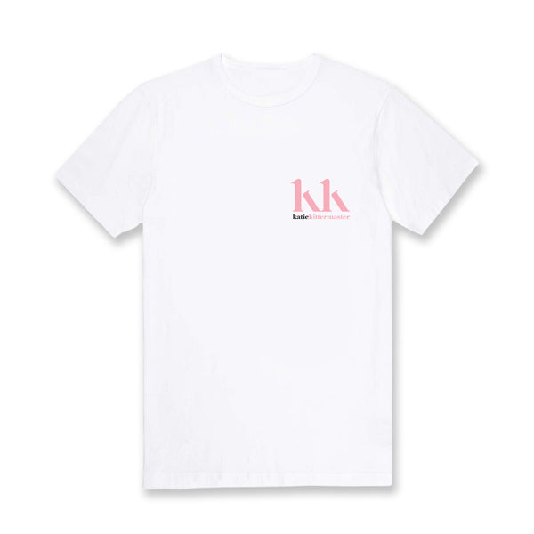 kk logo white t-shirt + signed photocard