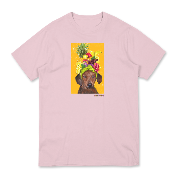 CUTIE FRUITY COTTON PINK T-SHIRT