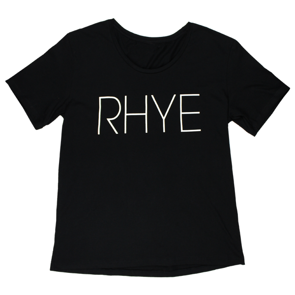 RHYE LOGO BLACK T-SHIRT