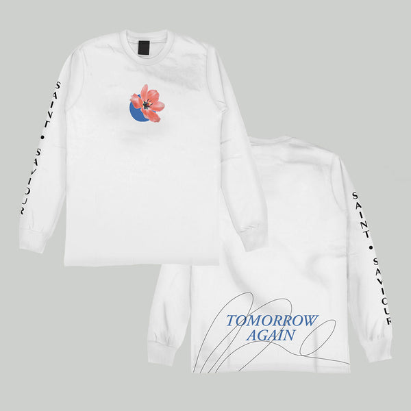 White Tomorrow Again Longsleeve