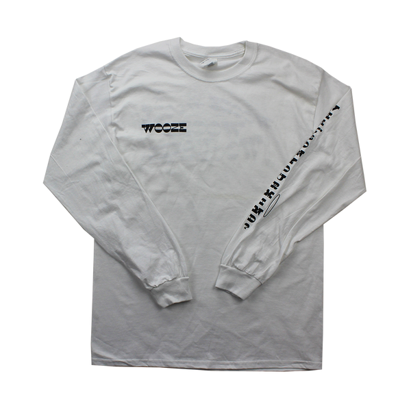 White Long Sleeve Wooze T-shirt