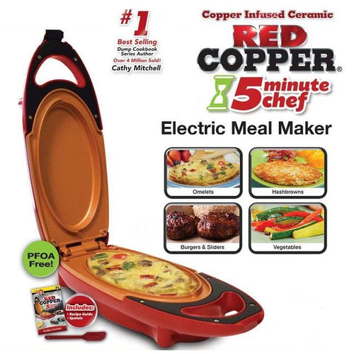 5 Minute Chef Red Copper(Free Shipping and Cash On Delivery Nationwide)