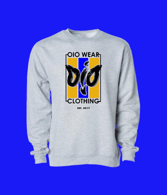 Sweater OiO Gray/Yellow,Black,Blue