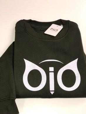 Sweater OiO Glitter Olive Green & White