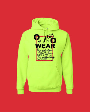 Hoodie OiO Green Light/Black,Red