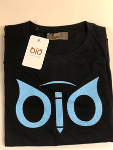 T-Shirt OiO Glitter Black & Sky Blue