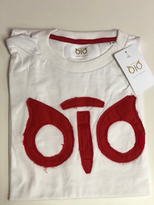 T- Shirt OiO Die Cut White/Red