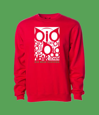 Sweater OiO Red/ White,Green