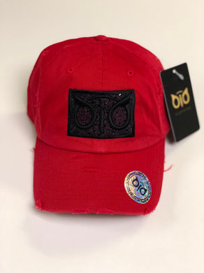 OiO Cap Red & Black Shine