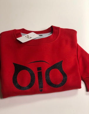 Sweater OiO Glitter Red & Black
