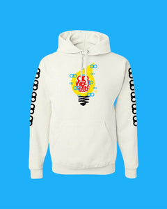 Hoodie OiO White/Yellow,Black,Red