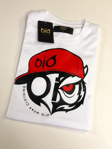 T-Shirt OiO Red Cap White