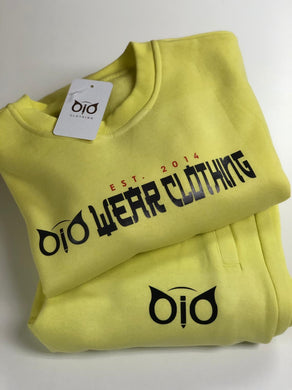 Set Sweater & Sweatpant OiO Lime Yellow ORG