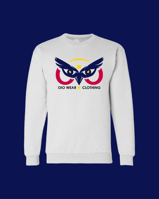 Sweater OiO White/Yellow,Red,Navy Blue