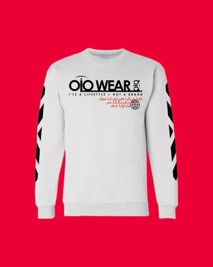 Sweater OiO White/Black,Red