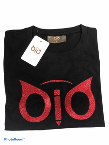 T-Shirt OiO Glitter Black & Red