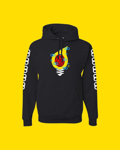 Hoodie OiO Black/Yellow,White,red