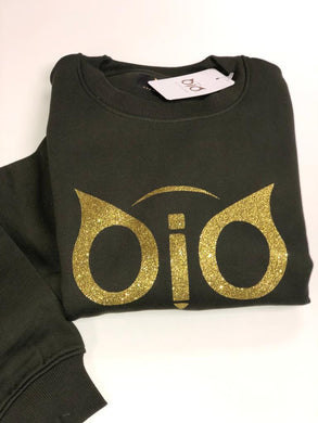 Sweater OiO Glitter Olive Green & Gold