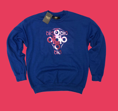 Sweater OiO Premium Blue/Metallic Pink