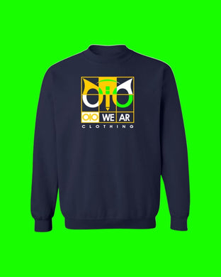Sweater OiO Navy Blue/Yellow,Green,White
