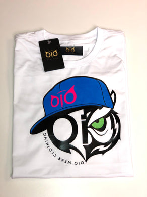 T-Shirt OiO Blue Cap White & Pink