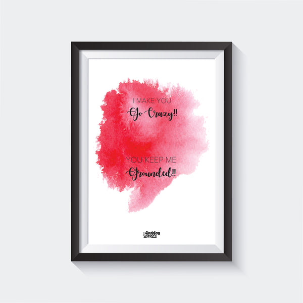 Go Crazy Wall Art - Glass Framed