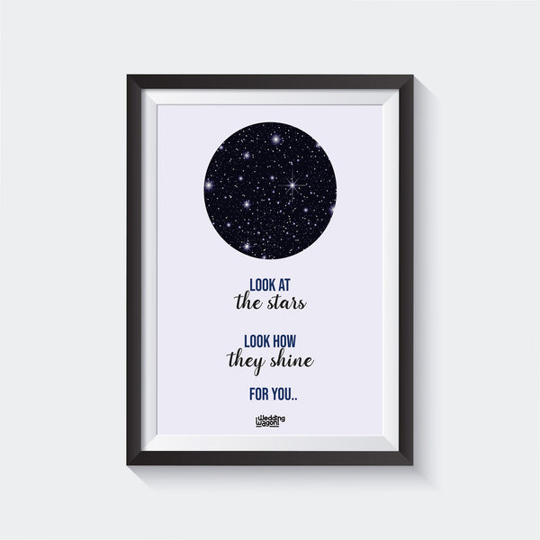Stars Shine Wall Art - Glass Framed