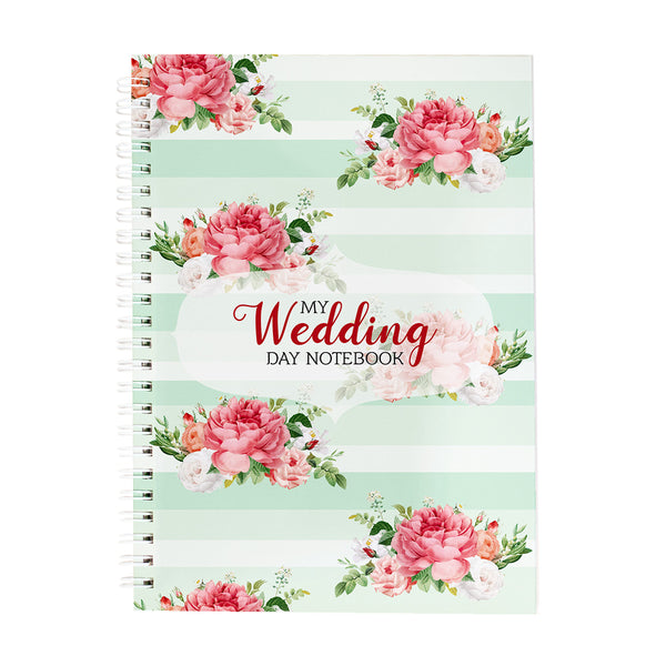My Wedding Day Floral Notebook