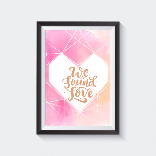 Found Love Wall Art - Glass Framed