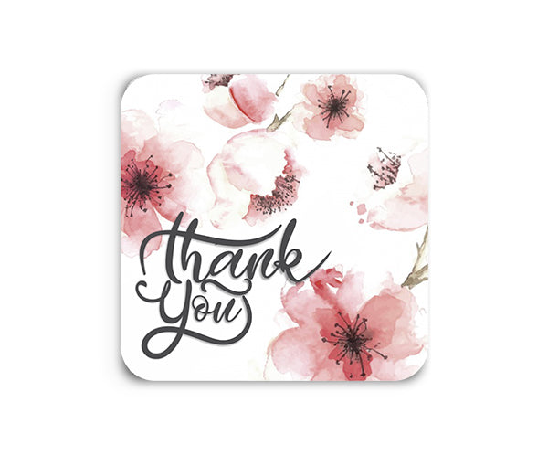 Thank You Flower Coaster