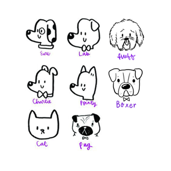 Custom Pets Face Stamp