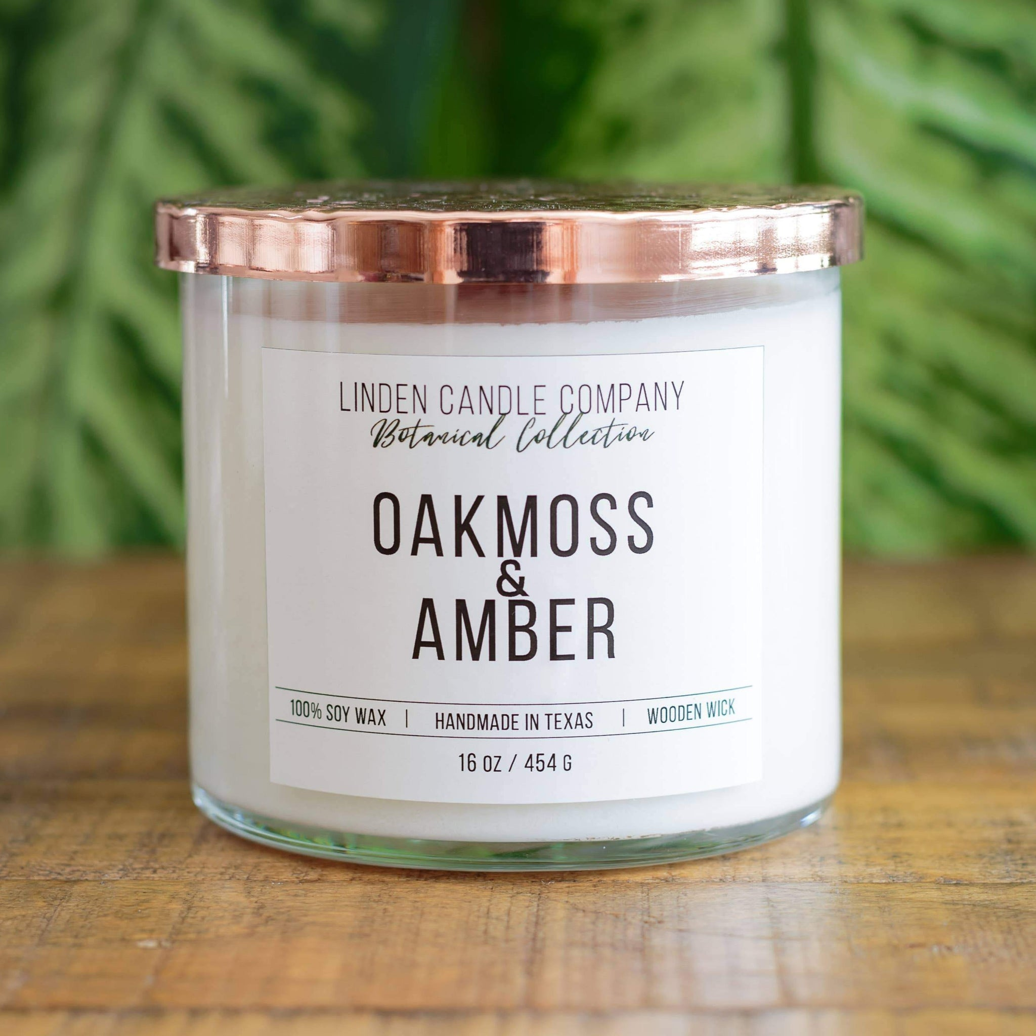 Linden Candle 16oz Oakmoss & Amber