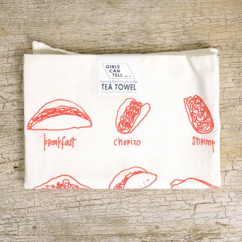 Girls Can Tell Tea Towel Taco