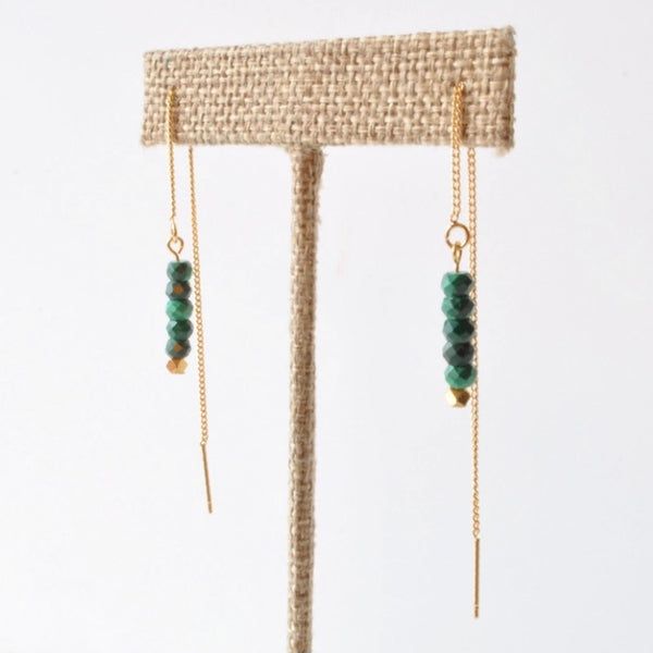 Libby & Smee Gemstone Threader Chain Earrings available in additional colors