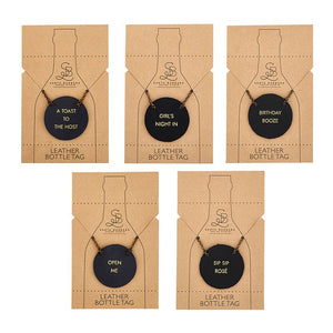 Leather Wine Bottle Tag