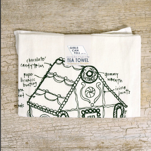 Girls Can Tell Tea Towel Gingerbread House