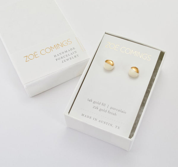 Zoe Comings Teeny Pebble Stud Earrings