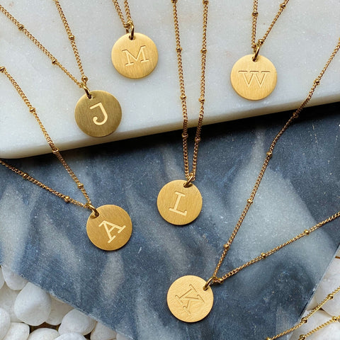 Ellison & Young Singular Charm Initial Necklace additional letters available