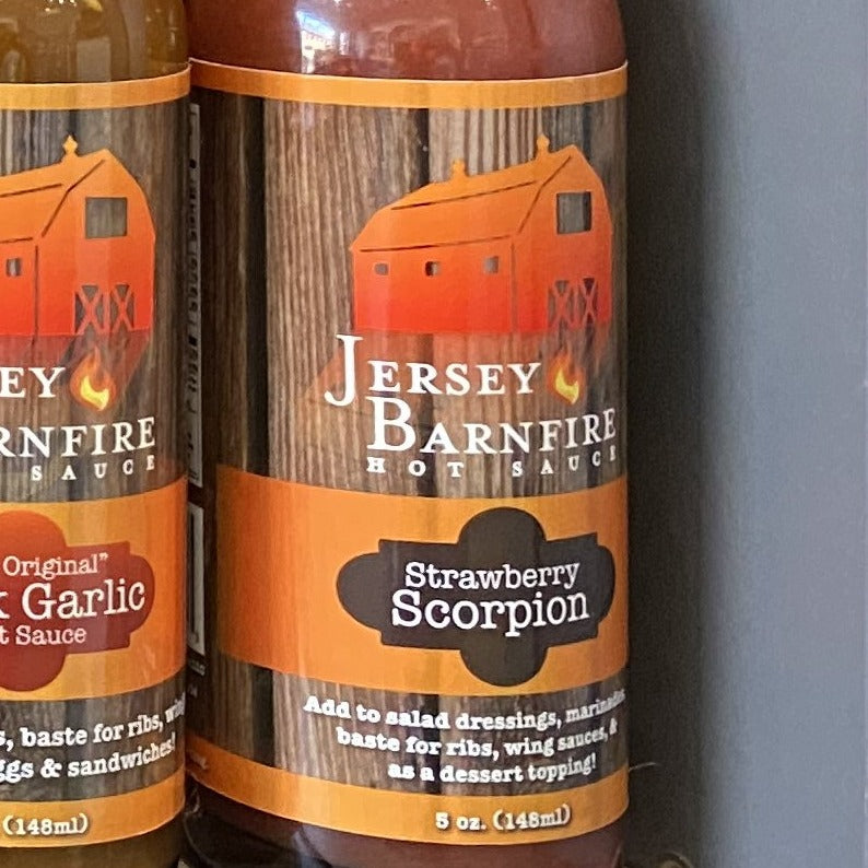 Jersey Barnfire Hot Sauce Strawberry Scorpion