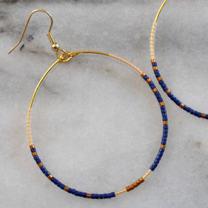 Libby & Smee Large Beaded Hoop Earrings available in additional colors